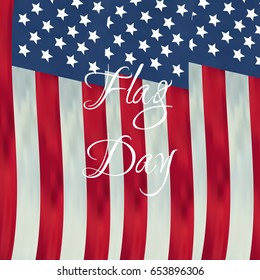 Happy flag day vector background. Happy flag day greeting card.