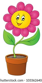 Happy flower theme image 5 - eps10 vector illustration.