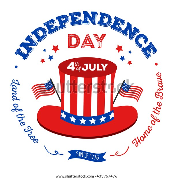 Happy fourth of July. Vector elements for American Independence Day on white background. Vector Illustration for 4th of July – greeting card, poster, banner.