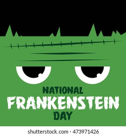 Happy Frankenstein Day Vector Illustration.