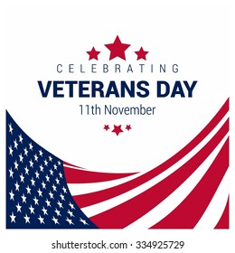 Happy and Free Veterans Day November 11th Creative usa flag 3d style template, United state of America, U.S.A veterans day design. Beautiful USA flag Composition. veterans Day poster design
