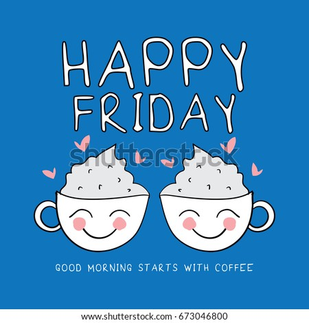 Happy Friday Stock Vector Royalty Free 673046800 Shutterstock