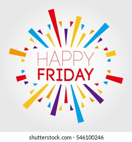 Happy friday images stock photos vectors shutterstock happy friday vector illustration poster banner greeting template m4hsunfo