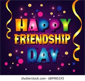 Happy Friendship day cartoon