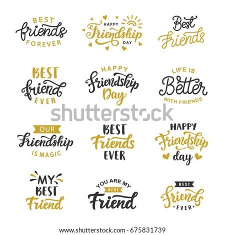 happy friendship day written different styles