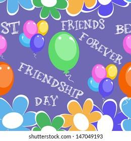 Happy Friendship day seamless background.