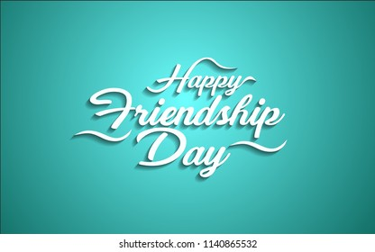 Happy friendship day.Creative  color happy friendship day text design element. vector illustration