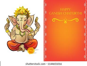Happy Ganesh Chaturthi festival india