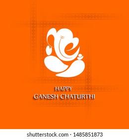 Happy Ganesh Chaturthi festival of India background with Lord Ganpati. Vector illustration