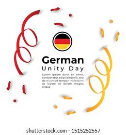 Happy German Unity Day Vector Design Template Illustration