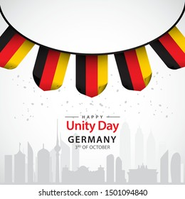 Happy Germany Unity Day vector template.