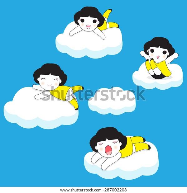 On Cloud Nine Clip Art