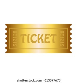 Happy, golden ticket