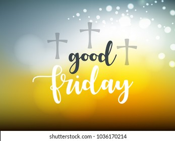 Happy Good Friday, Vector Illustration design.