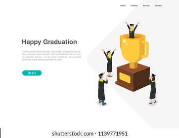 Happy Graduation Vector, you can use it the illustration for web, graduation card, and many more