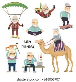 Happy grandpa after retirement