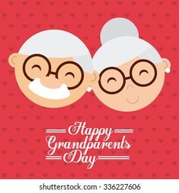 happy grandparents day design, vector illustration eps10 graphic