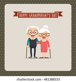Happy Grandparents Day, greeting card