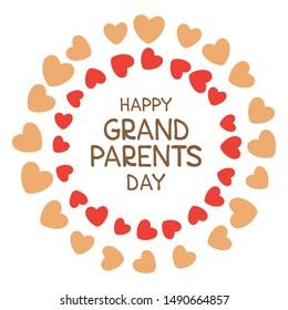 Happy Grandparents Day vector illustration. Doodle style. Design element for greeting card, leaflet or poster.