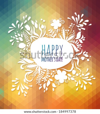 Happy Greeting Mothers Day Spring Card Stock Vector Royalty Free