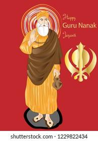 happy Guru Nanak jayanti illustration vector image