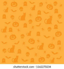 Happy Halloween background pattern vector illustration