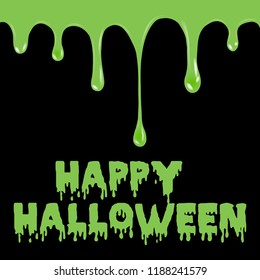 Happy Halloween background with splash. Vector