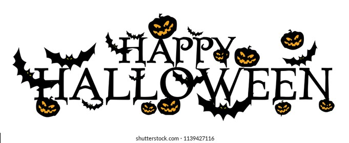 happy halloween banner or background for halloween party or event. beautiful greeting card, background, banner, poster or flyer vector