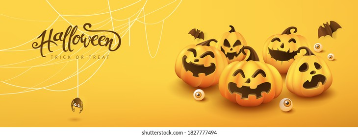 Happy Halloween banner or party invitation background