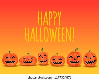 Happy Halloween Calligraphy Text Vector Illustration