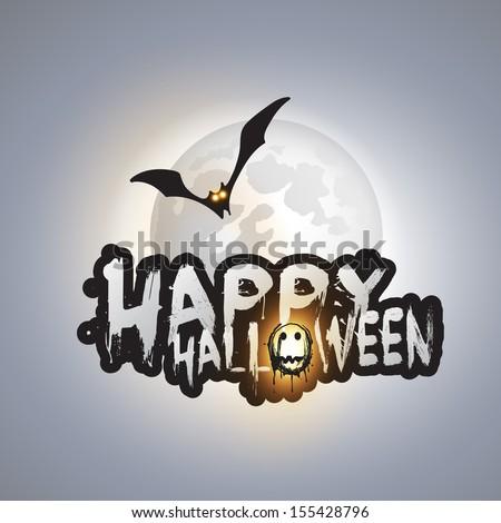 happy halloween card template flying bat stock vector royalty free