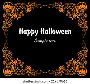 Happy Halloween! Celebration background with bat and place for your text. vector illustration Vector illustration