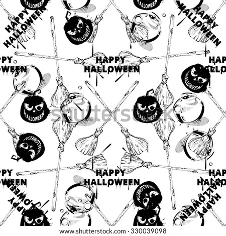 Happy Halloween Clipart Image Vector Seamless Stock Vector Royalty