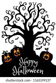 Happy Halloween composition image 3 - eps10 vector illustration.