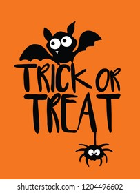 Happy Halloween Cute Illustration & Statement Placement Prints