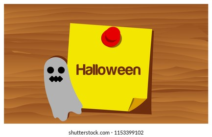 Happy Halloween with gost vector. vector illustrator