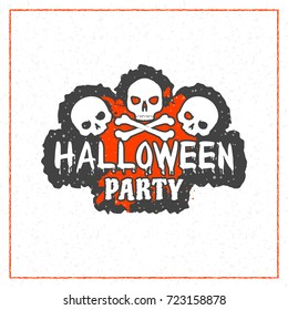 Happy Halloween greeting card. Typography design elements for greeting card or party flyer. Vector illustration