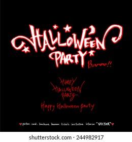 Happy Halloween / Hand drawn calligraphy - vector