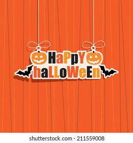 happy halloween hanging decoration, with transparencies