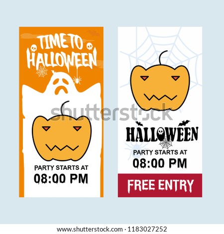 happy halloween invitation design pumpkin vector stock vector