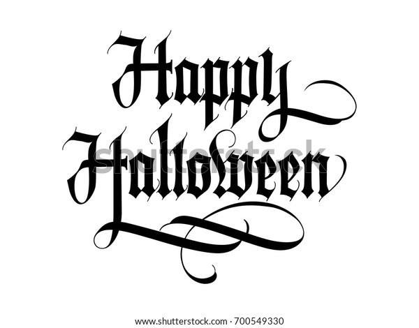 Happy Halloween Lettering Stock Vector Royalty Free 700549330
