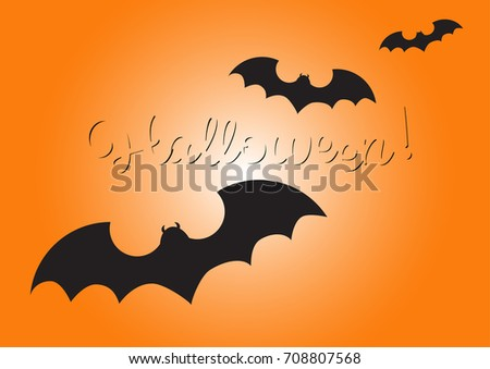 Happy halloween lettering greeting card message stock vector happy halloween lettering greeting card and message design background m4hsunfo
