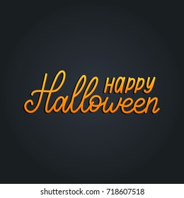 Happy Halloween lettering vector illustration for party invitation card, poster. All Saints' Eve background.