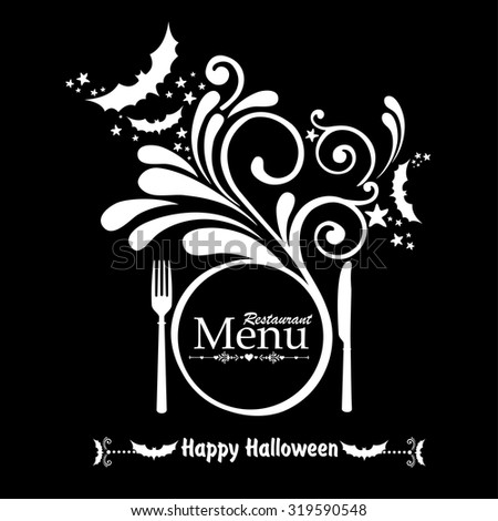 happy halloween halloween menu template vector stock vector royalty