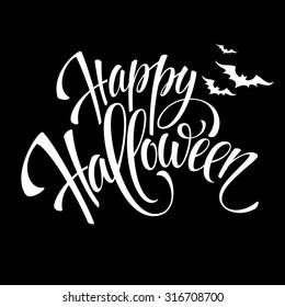 Happy Halloween message design background. Vector illustration EPS 10