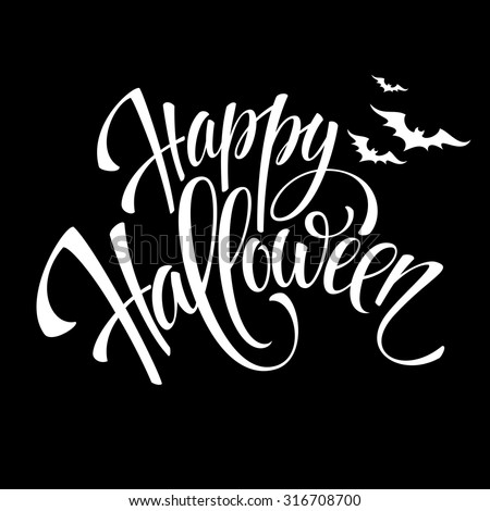 Happy Halloween message design background. Vector illustration EPS 10