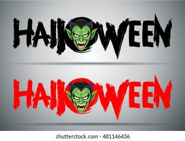 Happy Halloween message design background,Halloween text.-vector illustration