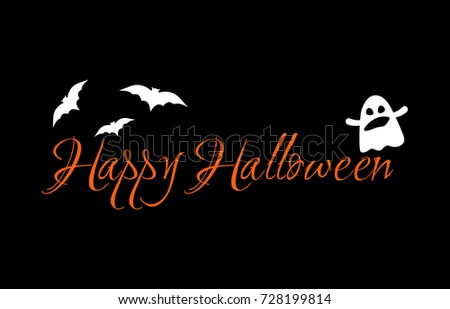 Happy halloween message design greeting card stock vector royalty happy halloween message design for greeting card festive banner orange handwritten text m4hsunfo