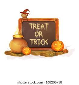 Happy Halloween message design , vector illustration