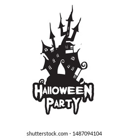 Happy Halloween Party Vector Background Trick or Treat Handwritten Calligraphy with web spiderman with texture for poster , banner , tshirt , party invitation